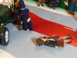 The villain pulled himself clear of Rabbie and attempted to escape but PC Bobby was on the case and quickly apprehended him.