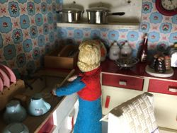 Joyce decided it was a lost cause and made a start on the dishes.