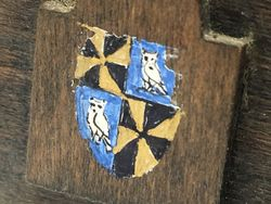 Coat of Arms on Footboard of Cradle