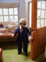 ...the door opened and in walked Mr Bennet, proprietor of the Wool and Wire tea room.