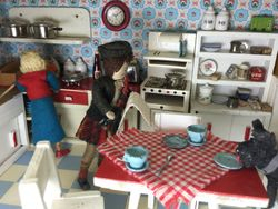 But as Rabbie turned to find Scrag clearing up left-overs off the table...