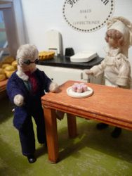 """""""Oo, don't mind if I do, Jenny, thank you kindly. Mmm, yes, rather delicious!"""""""