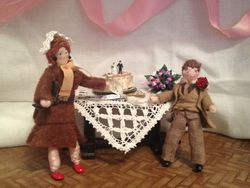 Later, in the wedding marquee, the wedding breakfast is finished and Bernard and Rita are about to cut the cake.
