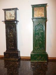 Modern Westacre reproduction alongside genuine Westacre clock