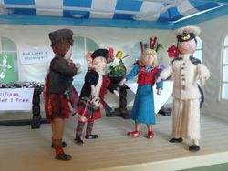 """""""Allow me to introduce ma sister Flora to ye both."""" said Rabbie."""