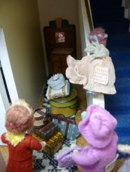 It was then that Percy noticed the luggage that Millicent had been busy heaving into the hallway.