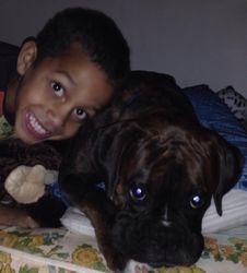 Jayden with big brother