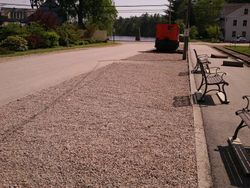 Gravel has been spread