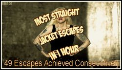 Most Straitjacket Escapes In One Hour