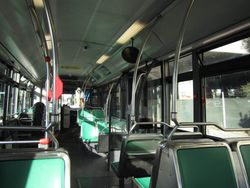 Inside Of A 40 Foot Van Hool Bus