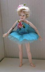 Blue Flower Ballerina Costume