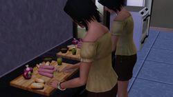 Cooking with my twin sister