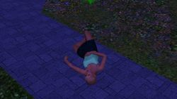 Sleeping in the cemetery