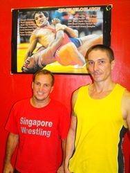 Shodai Sensei Peter A. Robertson and his coach Olympic Champion Wrestler Sergei Beloglazov