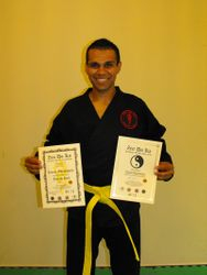 Student of the Month December 2010 and Yellow Belt Kickboxer of the Year. Rico. Kunal Ghanisham