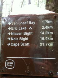 This way to San Josef Bay