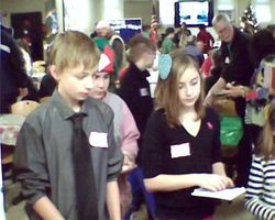 Student elves helping out