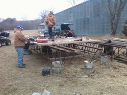 Building bridge off-site