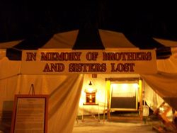 Memorial Tent at Spooks & Scoots