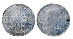 Charles II silver crown