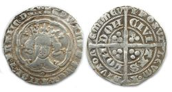 Medieval silver hammered coin