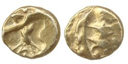 Celtic gold quarter stater