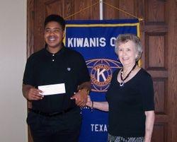 H. B. Davis Scholarship recipient