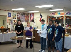 Recognition of Builders Club Officers