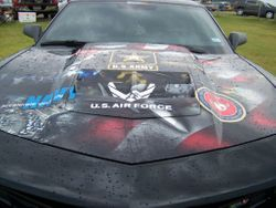 Decorated car at the event