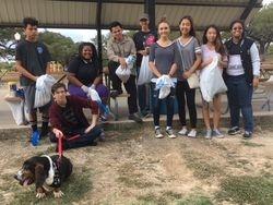 Key Club members do Community Park cleanup