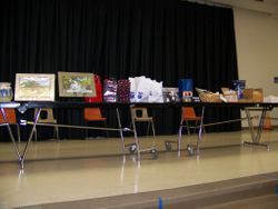 over 100 door prizes were awarded, donated by local businesses