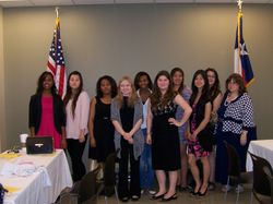 Key Club members with Alice Page, Adviser