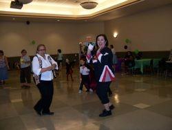Lisa Burden at the Halloween Dance Party