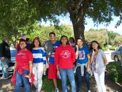 Key club members after the parade