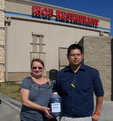 IHOP donated it famous blueberry syrup