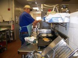 Cooking pancakes!