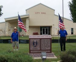 Posting of the Flags at Purple Heart Monument
