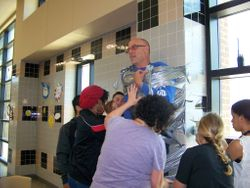 Taping Mr Burns at 8th grade lunch