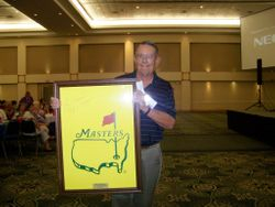 Master's Banner signed by Ben Crenshaw