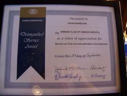 Distinguished Service Award for Vivian Marschik