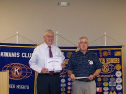 Charles Sweeney Certificate of Appreciation