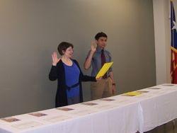 Samuel Godoy Leading the Key Club Pledge