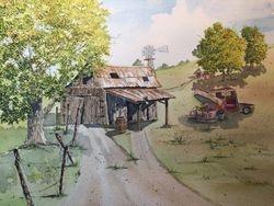 Original watercolor by Joe Friddle