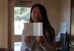 Jennifer with hand drawn Christmas card