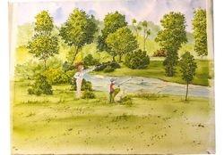 Friddle original watercolor