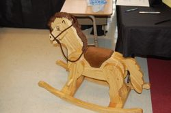 Hand Crafted wooden rocking horse by Mike Delaune