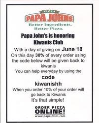 Papa John's Fundraiser