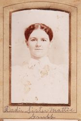 "Martha ""Mattie"" Jane Grubb (1871-1951)"