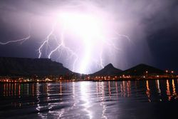 Storm over Cape Town