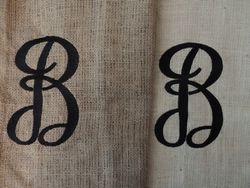 Burlap Embroidery!